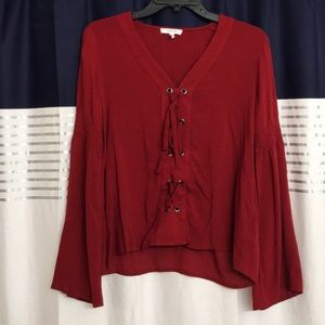 Long sleeve Maurice's blouse
